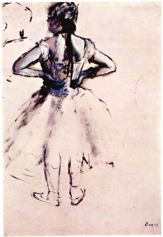 Edgar Degas. Ballerina from the back