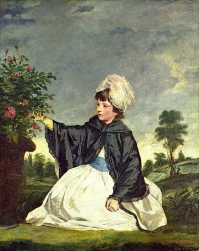 Joshua Reynolds. Portrait of lady Caroline Howard