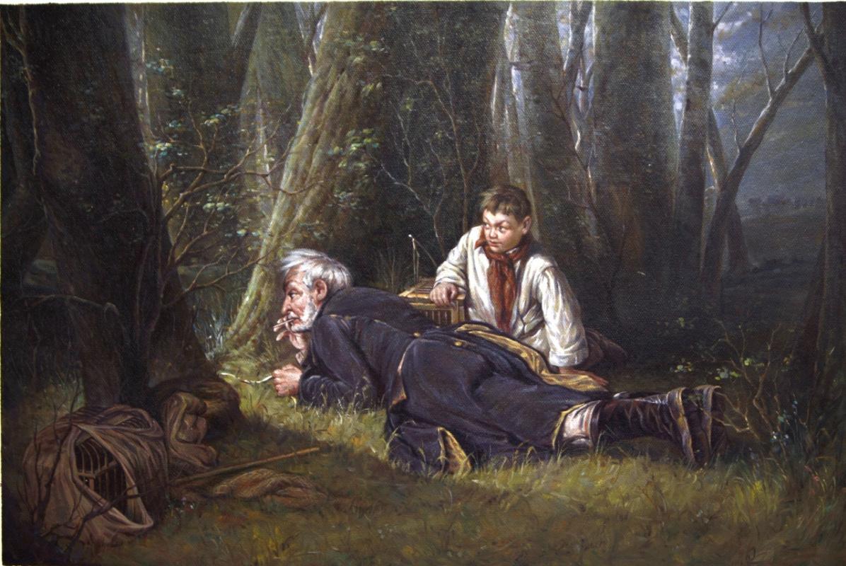 Савелий Камский. Птицелов, 1870 г. (копия картины Василия Перова)