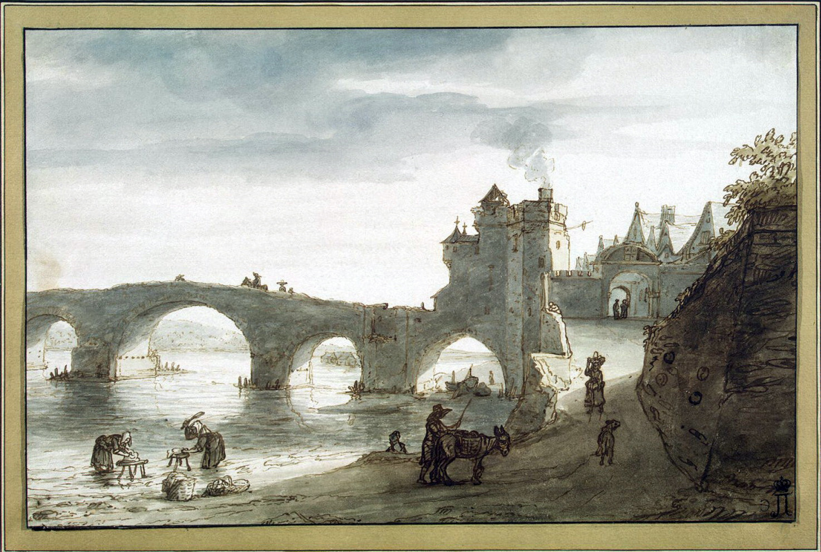 Ламберт Харменс Доомер. Мост через Луару в Амбуазе