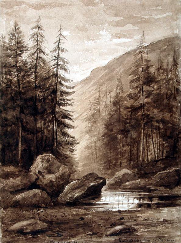 Леони де Базелер. Горный пейзаж в Вогезах