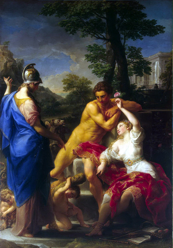 Pompeo Batoni. Hercules at the crossroads between Virtue and Vice