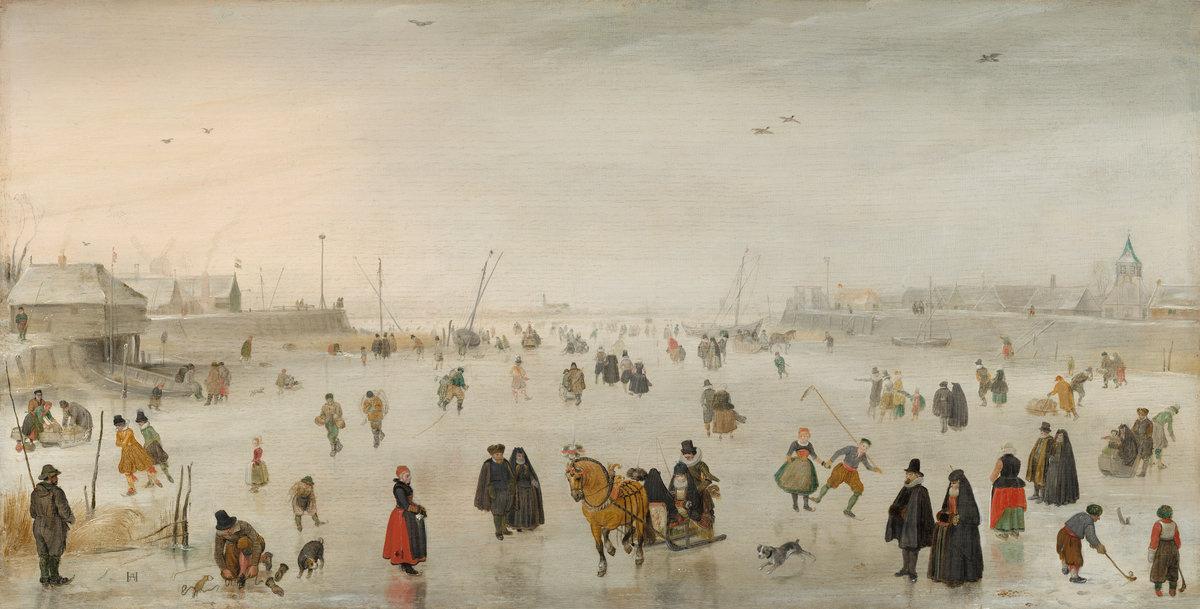 Hendrik Avercamp. Scene on the ice