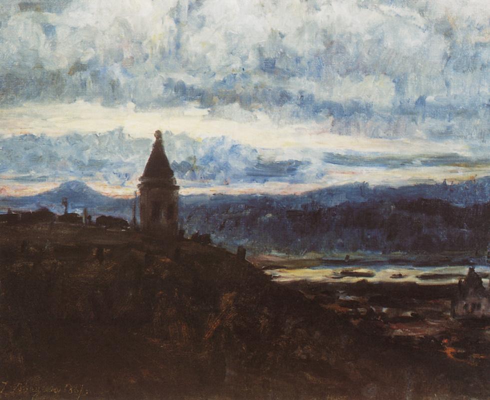 Vasily Surikov. View Of Krasnoyarsk