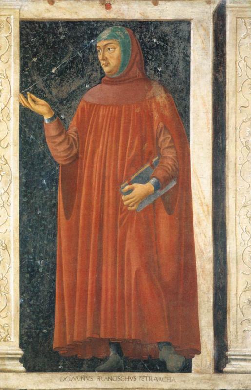 Андреа дель Кастаньо. Знаменитые персоны. Франческо Петрарка