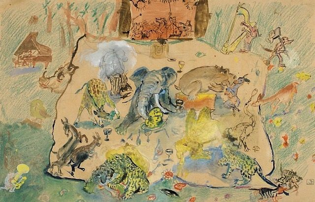 Oscar Laske. Concert of animals