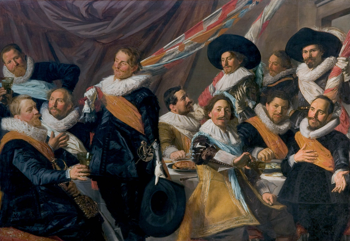 France Hals. The Banquet of the Officers of the St George Militia Company