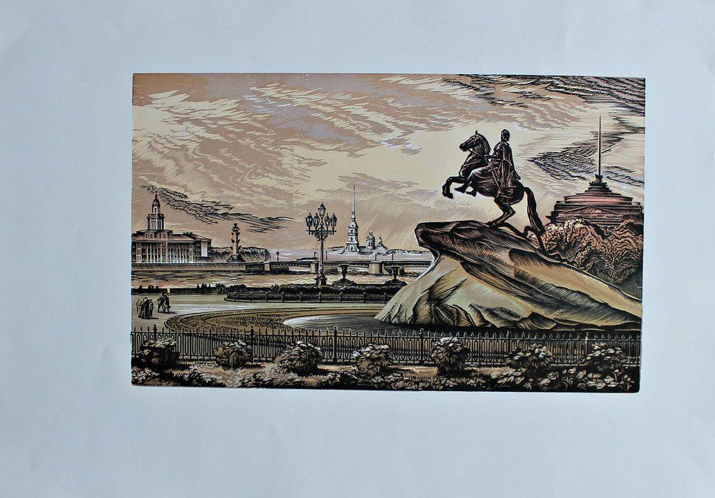 Vladimir Ivanovich Serdyukov. Bronze Horseman. Nevsky morning.