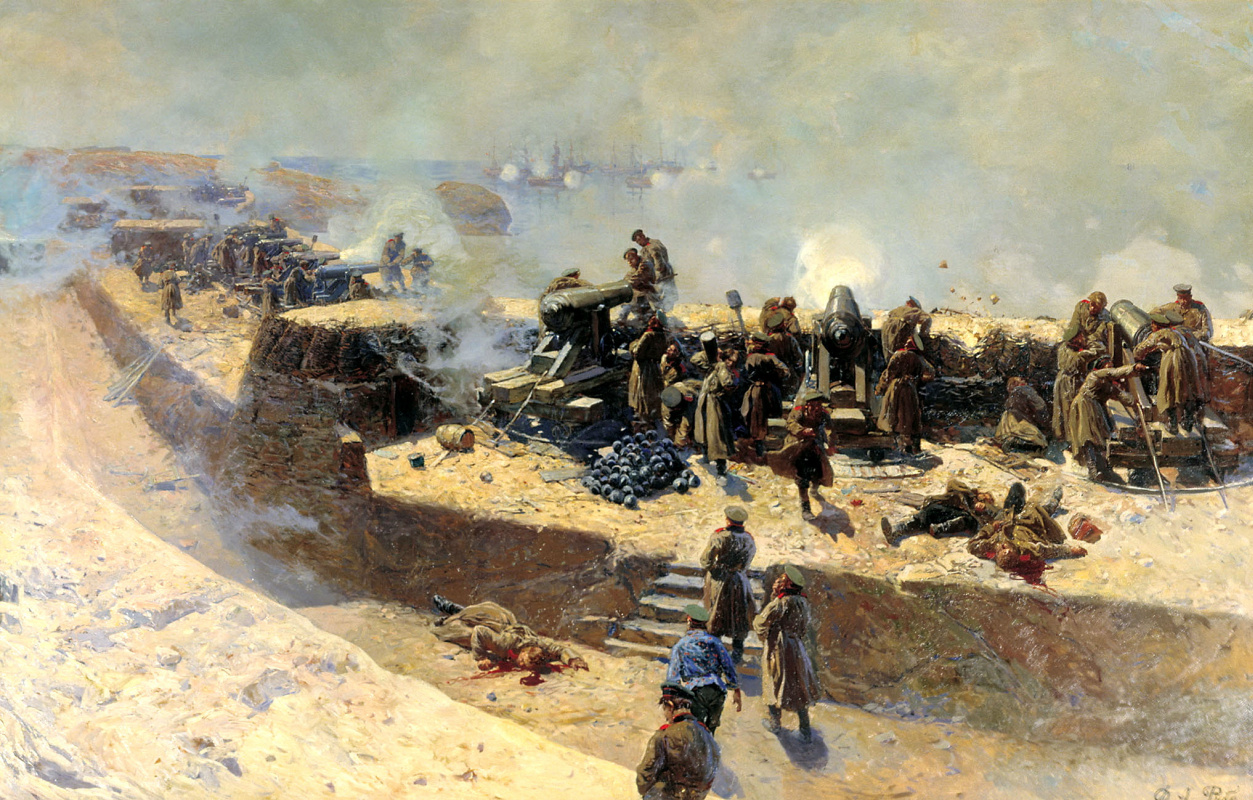 Franz Alekseevich Roubaud. Reflection of the bombing of the Anglo-French fleet