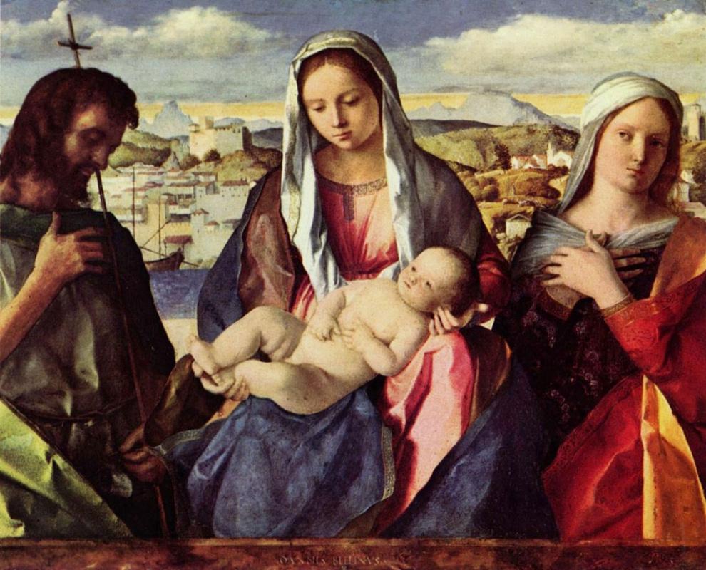 Джованни Беллини. Мадонна с Иоанном Крестителем и неизвестной святой