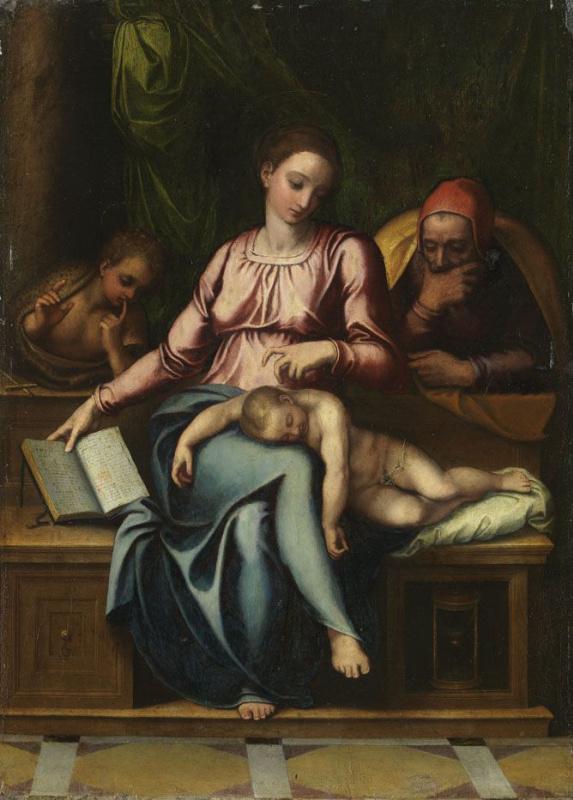 Марчелло Венусти. Святое семейство с Иоанном Крестителем