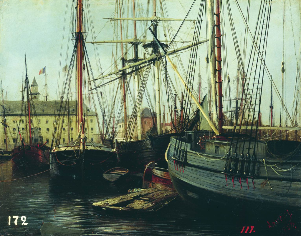 Alexey Petrovich Bogolyubov. Antwerp. 1854