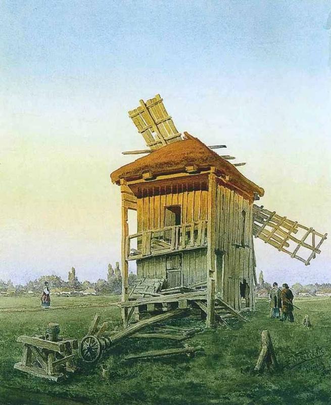 Владимир Егорович Маковский. Ветряная мельница