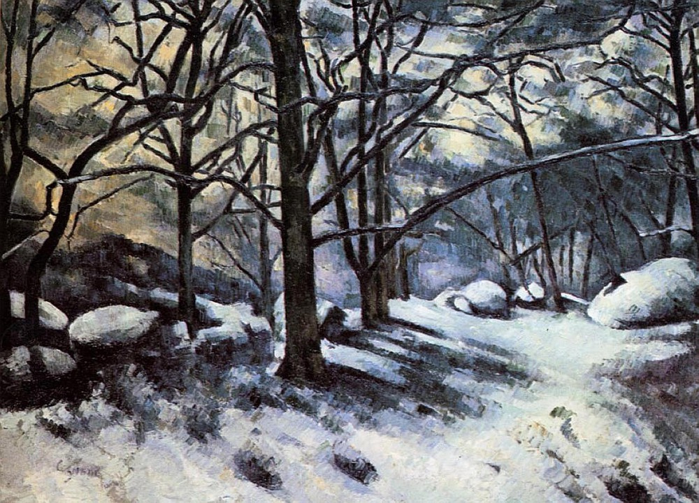 Поль Сезанн. Тающий снег в Фонтенбло