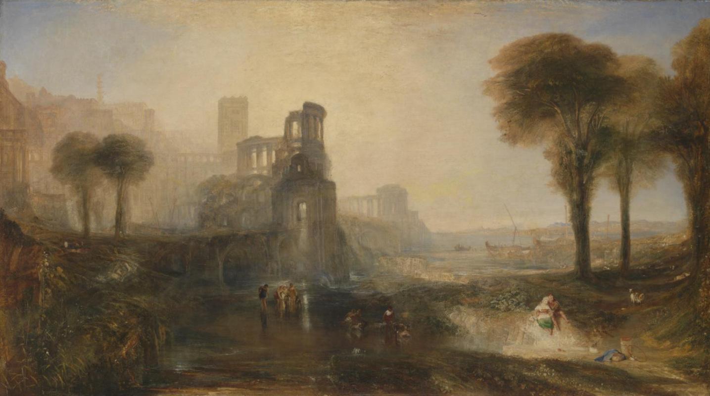 Joseph Mallord William Turner. Palace and bridge of Caligula