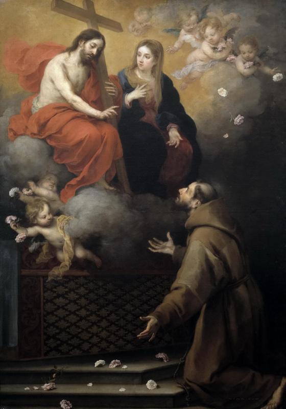 Бартоломе Эстебан Мурильо. Видение святого Франциска в Порциункуле