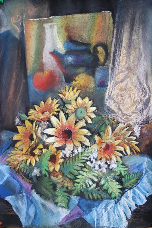 Ольга Александровна Плотникова. Натюрморт с цветами