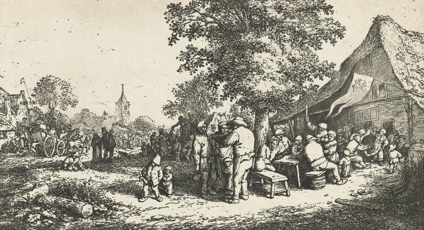 Adrian Jans van Ostade. The village fair