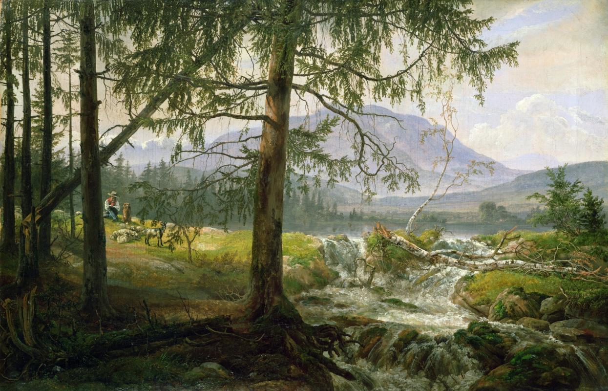 Johan Christian Klausen Dahl. Тирольский пейзаж