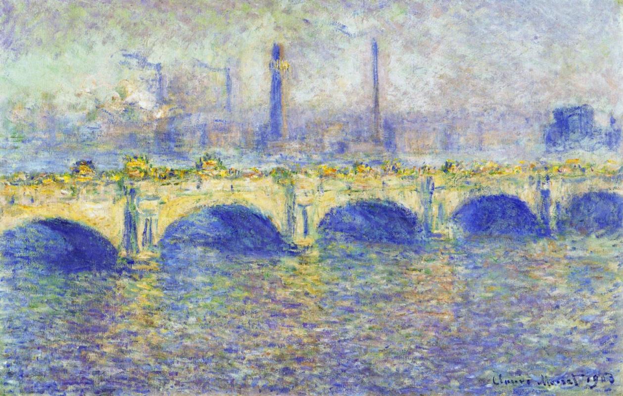 Клод Моне. Мост Ватерлоо, эффект солнца