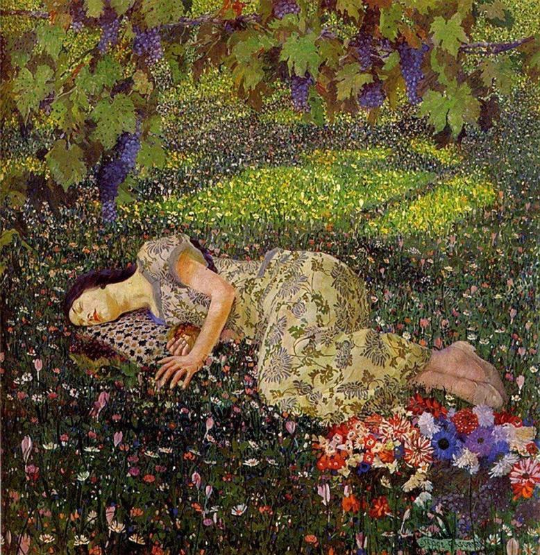 Felice Casorati. Dream of the pomegranate