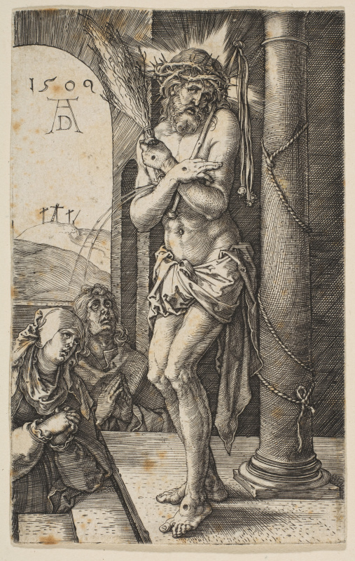 "Albrecht Dürer. Christ-Martyr in the column. From the cycle ""the passion of the Christ"""