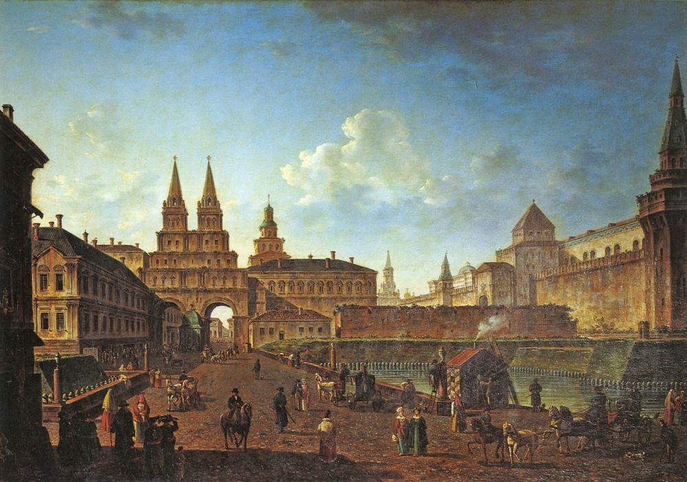 Картинка московский кремль и красная площадь