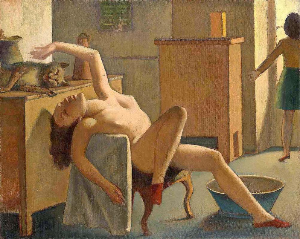 Balthus (Balthasar Klossovsky de Rola). Nude with a cat