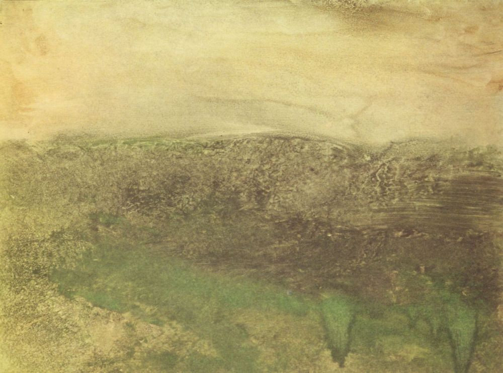 Edgar Degas. Twilight in the pyrenées