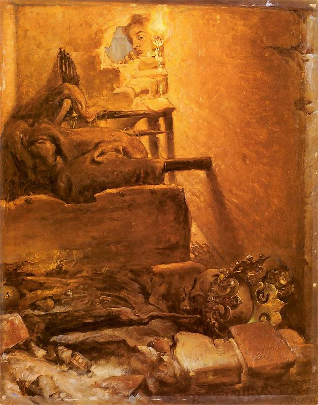 Jan Matejko. The interior of the tomb of Casimir the Great