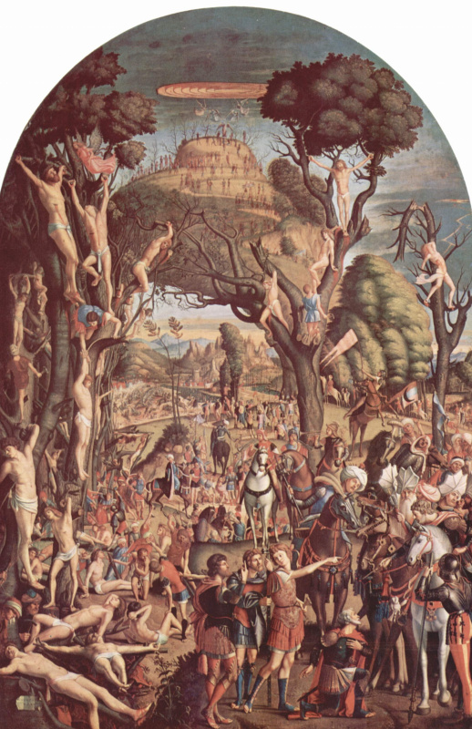 Vittore Carpaccio. The crucifixion of the ten thousand on mount Ararat