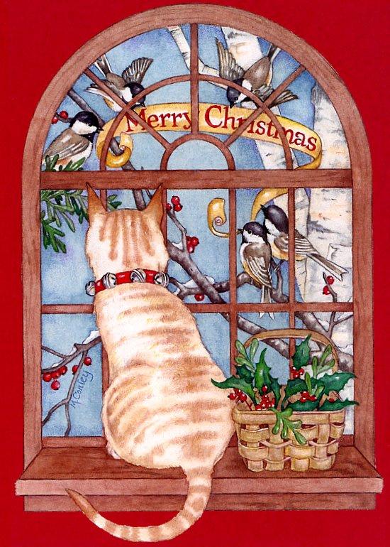 Майк Конли. Кот у окна