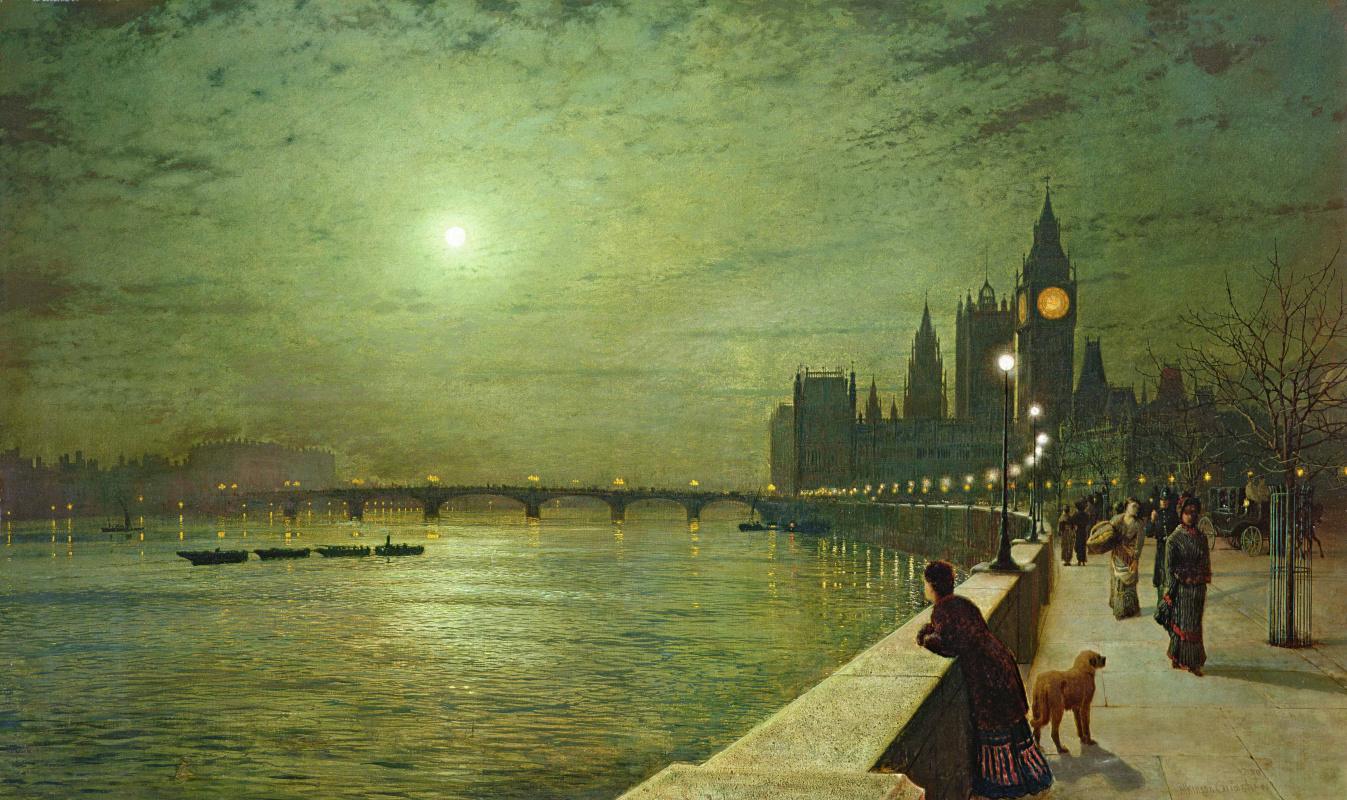 John Atkinson Grimshaw. Twilight over the Thames