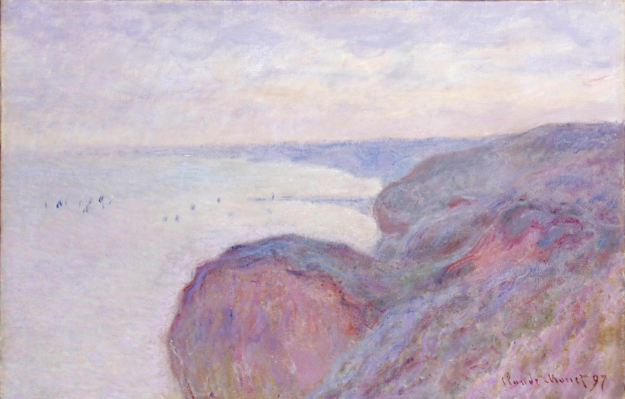 Claude Monet. On the steep banks near Dieppe