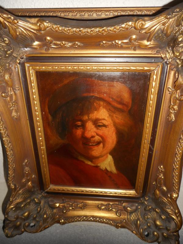 """Jan Theuns (1877-1961). """"Rembrandt laughs"""""""