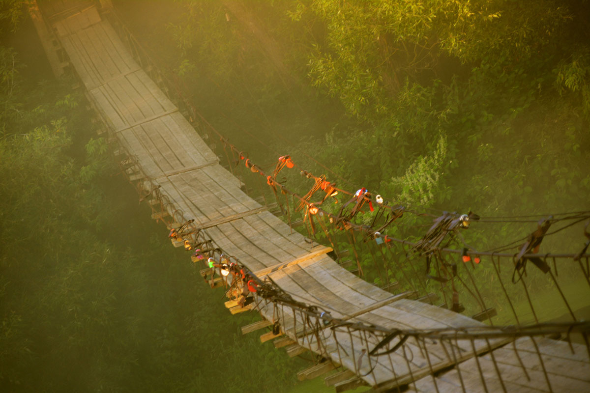 Vladimir Nikolaevich Bezgreshnov. Morning. Bridge