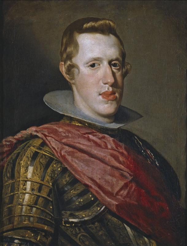 Diego Velazquez. Portrait of Philip IV in armour