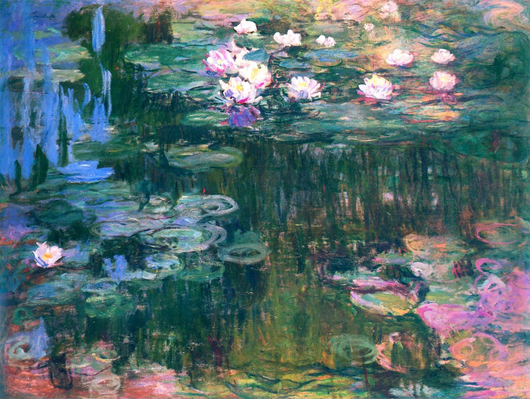monet bridge over a pond of water lilies analysis