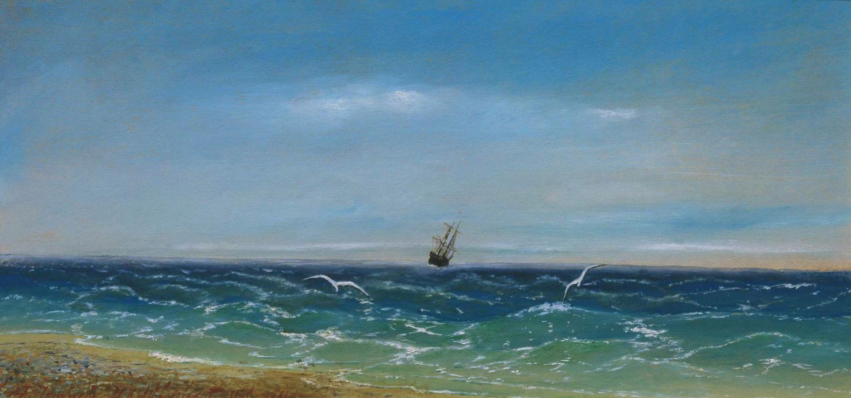 Ivan Aivazovsky. Sailboat in the sea