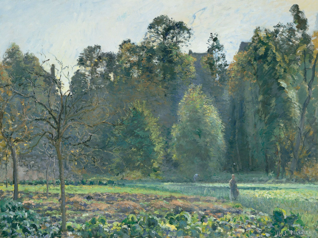 Camille Pissarro. The cabbage field. PONTOISE