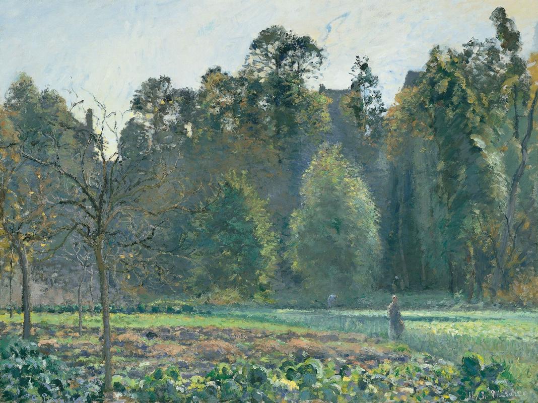 Camille Pissarro. The cabbage field. PONTOISE