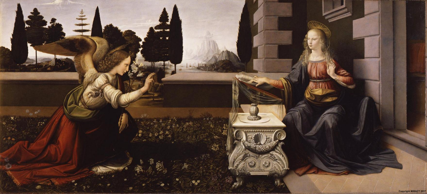 Leonardo da Vinci. The Annunciation