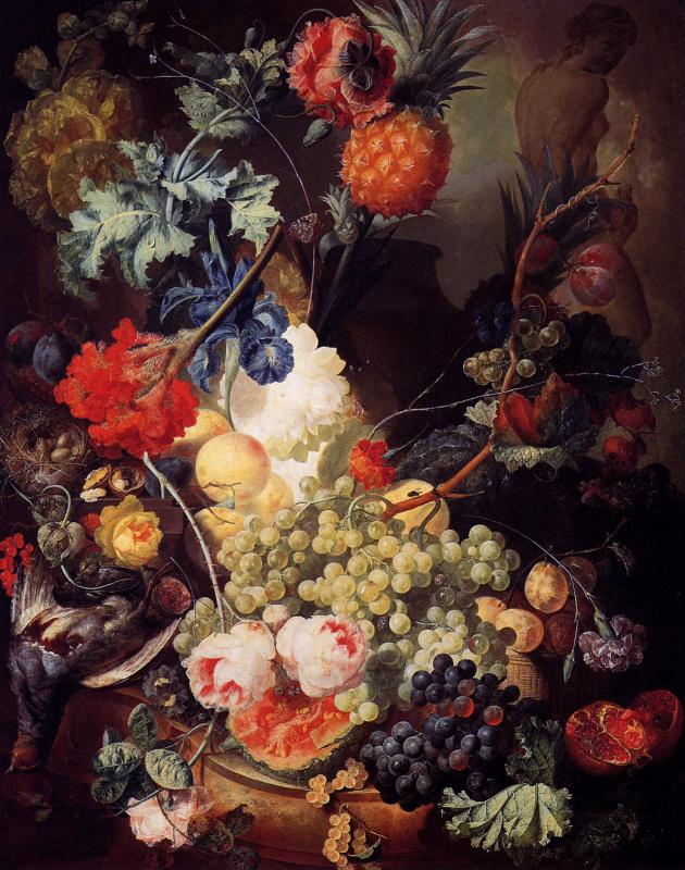 Анри ван Ос-Делез. Натюрморт с виноградом
