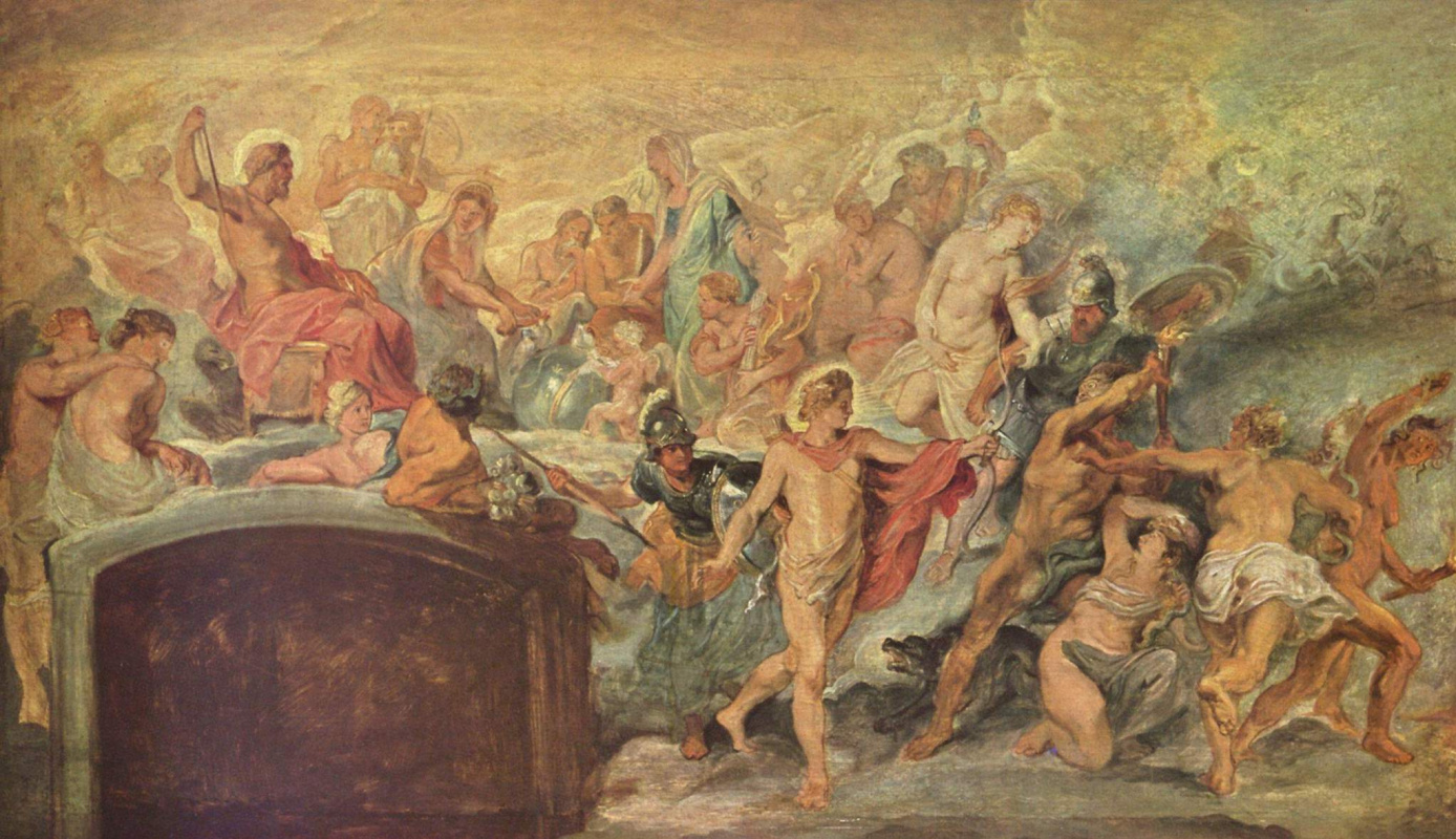 Питер Пауль Рубенс. Цикл картин для Марии Медичи, французской королевы. Процветание Франции под регентством Марии Медичи, эскиз