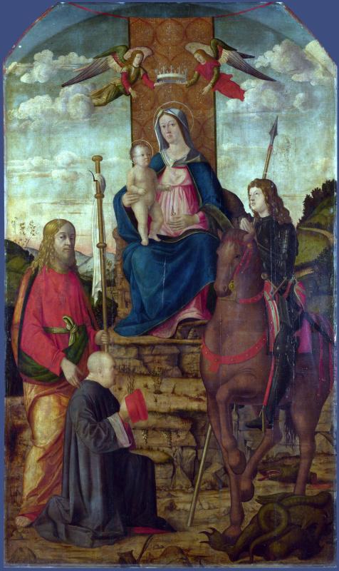 Джованни да Удине. Дева с младенцем и святыми