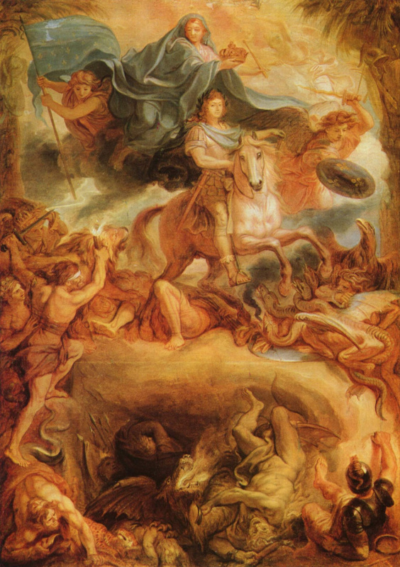 Charles Lebrun. The apotheosis of Louis XIV