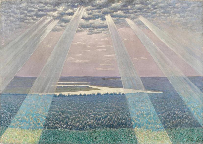 """Ivan Nikandrovich Nefedov. Vasilsurskie Dali. Enlightenment """"1960"""
