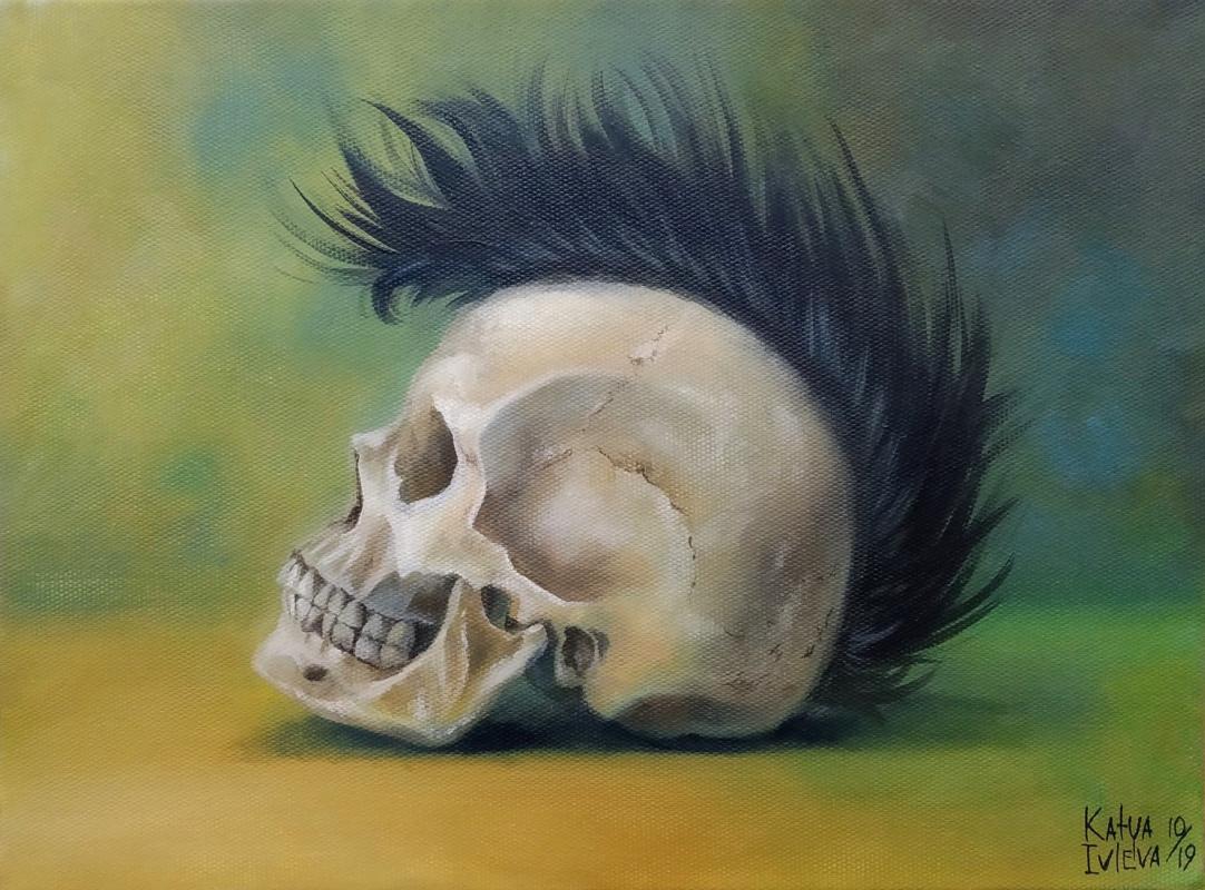 Екатерина Владиславовна Ивлева. Skull with mohawk