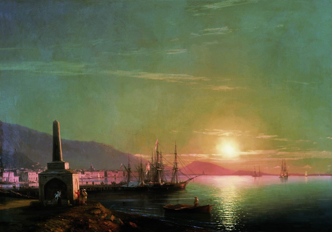 Ivan Aivazovsky. The sunrise in Feodosiya