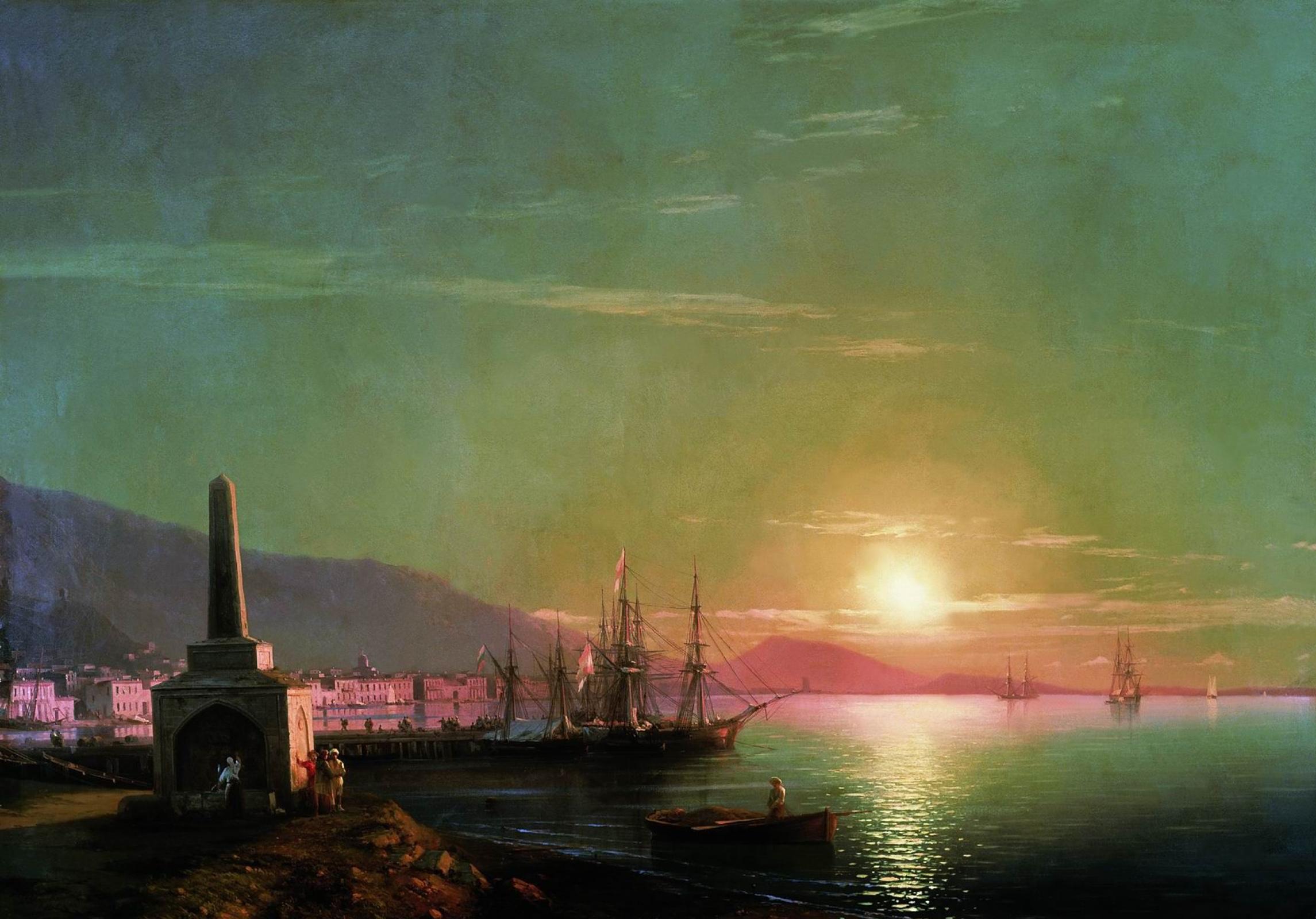 Картинки по запросу солнце причал картины художников